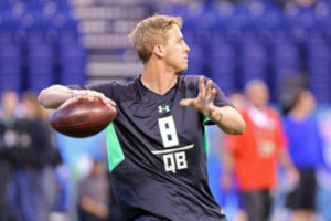 Jared Goff at the 2016 NFL Combine Photo credit: Gregory Payan/AP