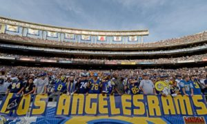 Rams fans attending Qualcomm Stadium against the San Diego Chargers in 2014 (Lucy Nicholson, Reuters)