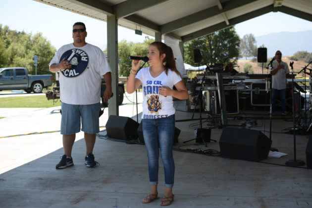 National Anthem performed by Aubree Archibeck. Photo credit: Beautiful Memories by Valerie Gomez.
