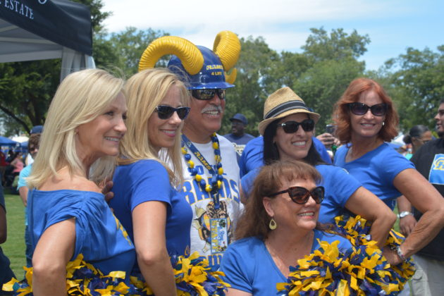 Some former Rams cheerleaders were present too. Photo credit: Beautiful Memories by Valerie Gomez.