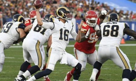 Goff against the Chiefs