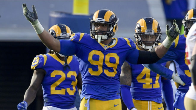 39bb35cae49 Ep. 2018:113 – L.A. Rams clinch No. 2 seed in NFC Playoffs, earn 48-32  victory over 49ers: Derek Ciapala and Johnny Gomez break down the Los  Angeles Rams' ...